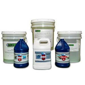 Restoration chemicals for professional pressure washers
