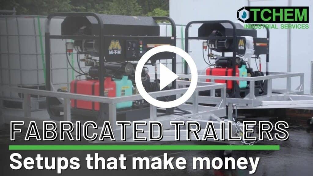 custom built pressure washer trailers